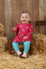 Infant Horse Tunic Raspberry 0-3M