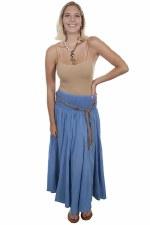 Acid Wash Broomstick Skirt LBL MED