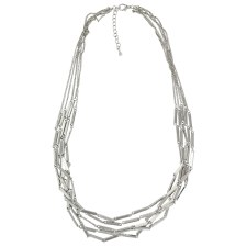 Bar Six Bar Strand Necklace