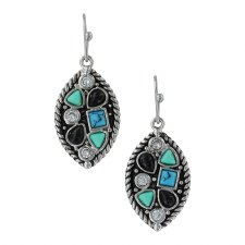 Canyon Colors River Rock Marquise Earrin