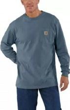 Pocket L/S Tee Steel Blue XL REG