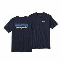 Patagonia Long Sleeve Navy Logo Tee