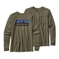 Patagonia Long Sleeve P-6 Logo Cotton T-Shirt