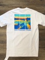 Southern Tide On The Water Tee White