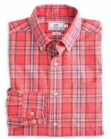 Southern Tide Flat Rock Plaid Sport Shirt
