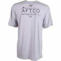 Aftco Fishtail Short Sleeve Gray