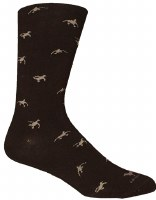 Brown Dog Hosiery Hyde Black Socks