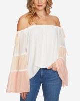 1State Off The Shoulder Colorblock