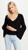 Free People Damsel Pullover Bell Sleeve Sweater