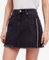 Free People Embellished Denim Skirt