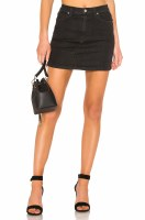 Free People Teagan Denum Skirt Black