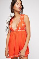 Free People Diamond Embrodered Top