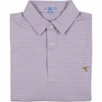 GenTeal Dusk/Cameo Bay Stripe Performance Polo