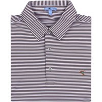 GenTeal Ash Clubhouse Stripe Performance Polo