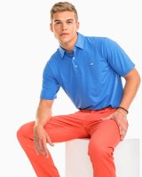 Soutern Tide Heathered Driver Polo Colbalt Blue