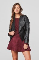 Jack Quilted Faux Leather Jacket