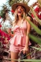 Lucca Couture Lexi Peplum Romper