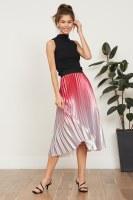 Lucy Paris Ofelia Ombre Pleated Skirt