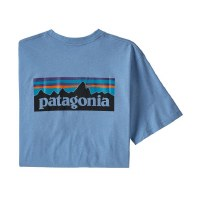 Patagonia M's P-6 Logo Pocket Tee Railroad Blue