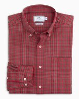 Southern Tide Poinsettia Plaid Intercoastal Performance Sport Shirt