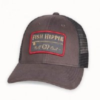 Fish Hippie Roll Cast Trucker Hat Grey