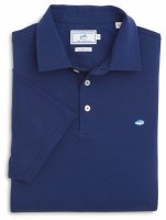 Southern Tide Channel Marker Navy Polo
