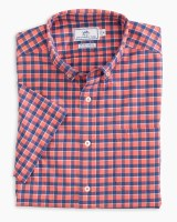 Southern Tide Gunwale Check Intercoastal Short Sleeve Sport Shirt