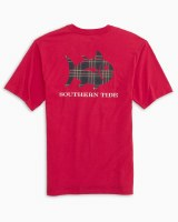 Southern Tide Tidings Plaid Skipjack T-Shirt
