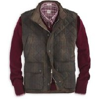 Peter Millar Enfield Quilted Waxed Cotton Vest