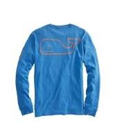 Vineyard Vines Long- Sleeve Vintage Whale Heather Pocket T- Shirt