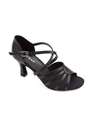 Open Toe Ballroom Shoe Black