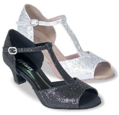 T-Strap Sparkly Ballroom Shoe Silver