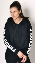 Crop Logo Hoodie Black**LAST ONE** WAS 50 NOW 25**