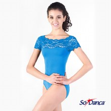**SALE - WAS 45 NOW 20** So Danca Leotard Top Laced- E10945 Sky Blue