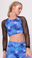 Mesh Long sleeve crop top **50% OFF FOR A LIMITED TIME ONLY. WAS 35 NOW 17.50**