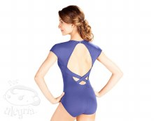 Cap Sleeved Leotard with Keyhole back RDE1540 - Dark Purple
