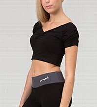 Ruched Crop Top - TS04930 **SALE - Was 30 Now 5**