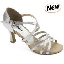 Strappy Latin Shoe Silver