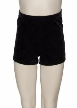 Velour Hot Pants Black