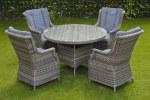 Amalfi 120cm Table Set 4 seat