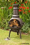 Chimenea Cast Iron Black Medium
