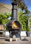 Chimenea Cast, XL/Grill Bronze