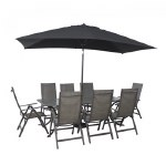 LG Key Largo 109x210cm Table Set with Recliners