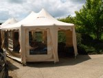 LG Medium Party Gazebo Cream