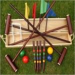 Traditional Garden Games Croquet York Set