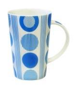 Maxwell Williams Circles Conical Blue Mug 450ml