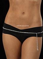 2 Row Rhinestone Belly Chain