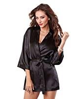 Black Kimono Robe & Chemise