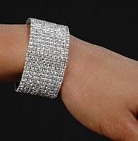 10 Row Rhinestone Bracelet