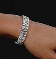 3 Row Rhinestone Bracelet